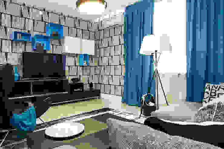 Гостинная Гостиная в скандинавском стиле от Nika Loiko Design Скандинавский
