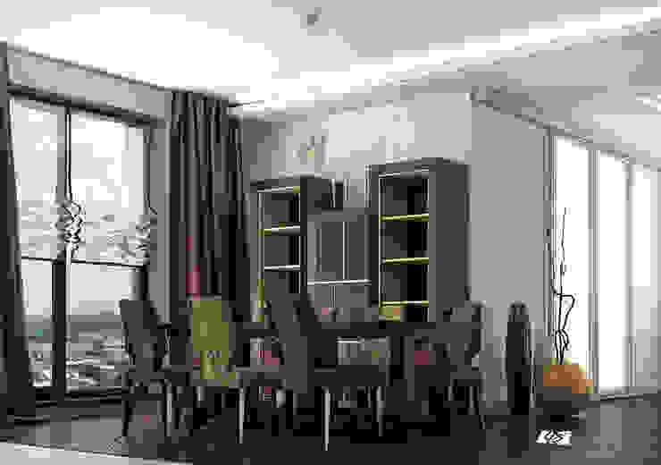 felicita 220 м.кв Столовая комната в эклектичном стиле от Александра Геродотова Эклектичный