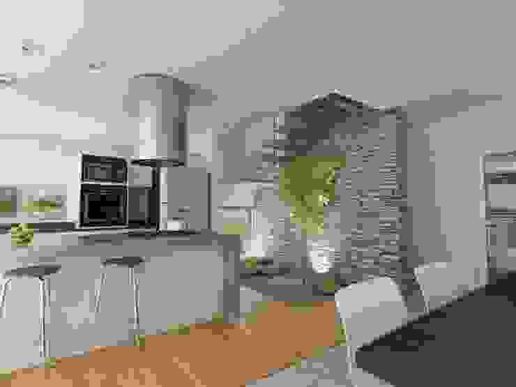 Chazarreta-Tohus-Almendra Modern kitchen