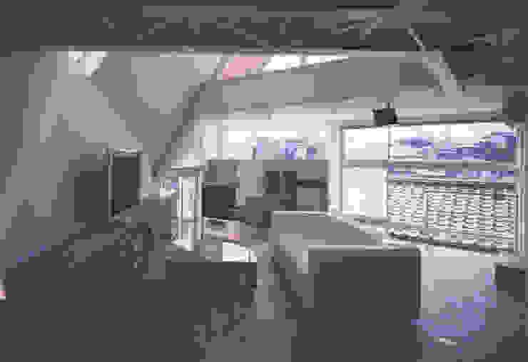 リビング モダンデザインの リビング の 一級建築士事務所 バサロ計画 モダン