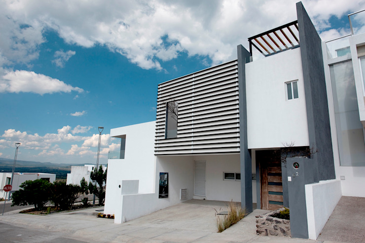 Fachada Casas minimalistas de JF ARQUITECTOS Minimalista
