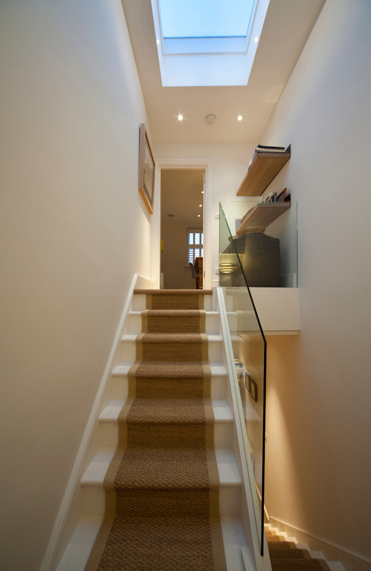 Stair to the Loft Scandinavian style corridor, hallway& stairs by Gullaksen Architects Scandinavian