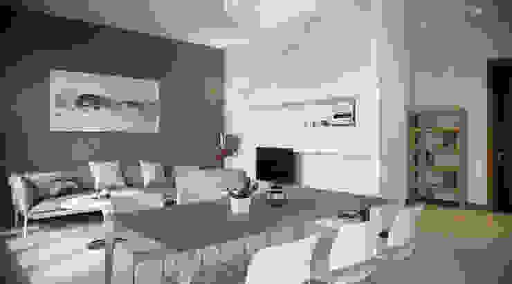 Stone version Salas de jantar modernas por AK srl Moderno