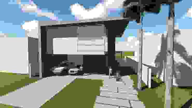 Residência V|T Casas modernas por Coutinho+Vilela Moderno Vidro