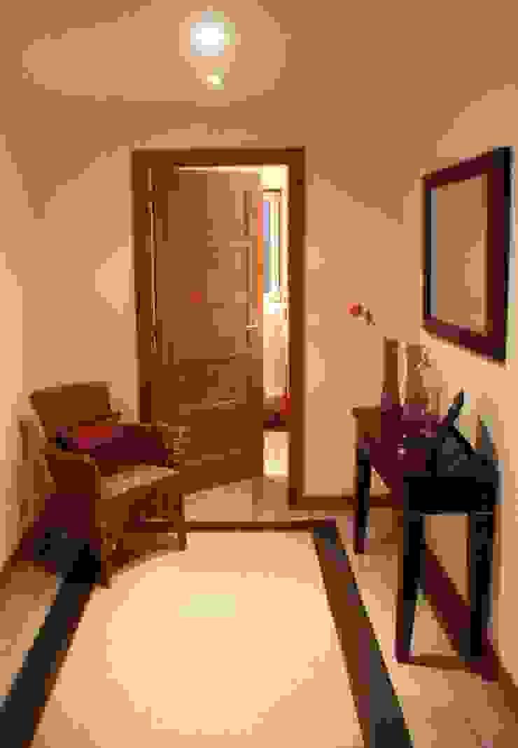 Moradia urbana no alentejo Corredores, halls e escadas campestres por AGUA-MESTRA, Lda; Campestre