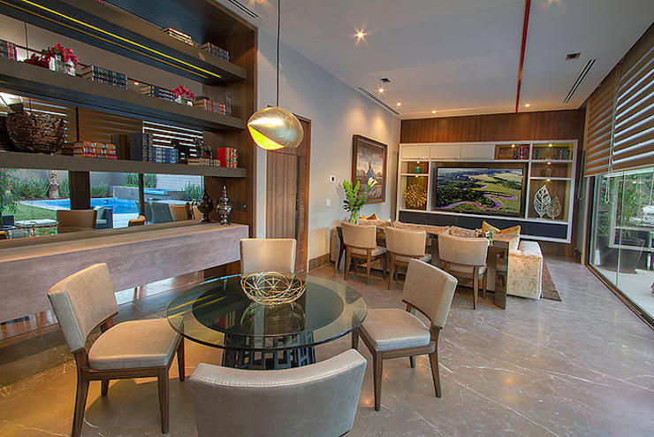 Rousseau Arquitectos Modern dining room