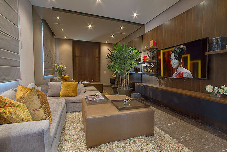 SALA DE ESTAR / FAMILY Salones modernos de Rousseau Arquitectos Moderno