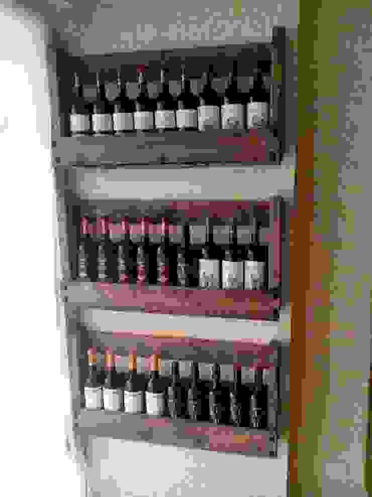 botellero para bodega con palets de RECICLA'RT Rústico