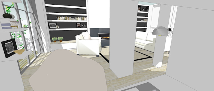 3d sketch view from desk Gullaksen Architects