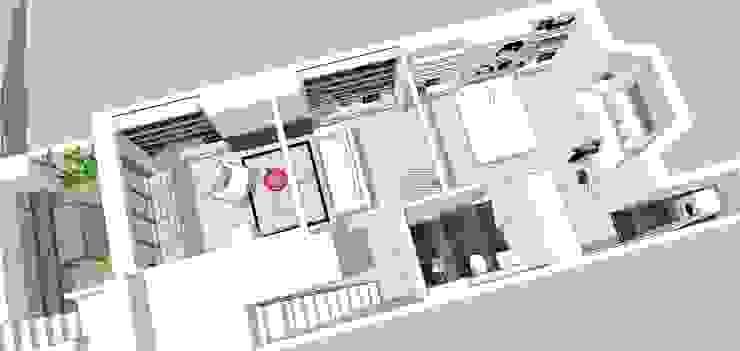 3d Birds eye view of plan Gullaksen Architects