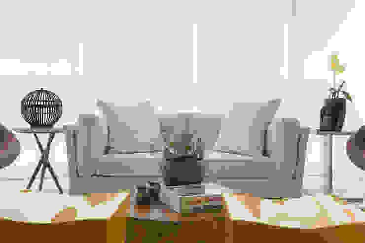 Apartamento P|B Varandas, alpendres e terraços modernos por Lodo Barana Arquitetura e Interiores Moderno