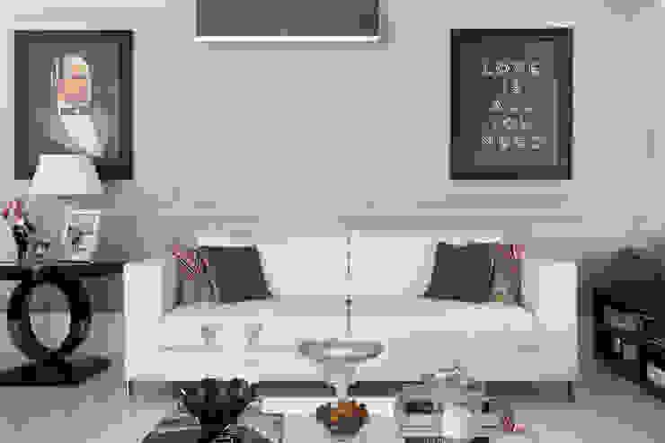 Apartamento P|B Salas de estar modernas por Lodo Barana Arquitetura e Interiores Moderno