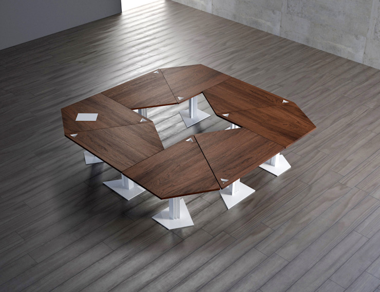 TRAP table consists of 8 units KAMBIAM (NeuroDesign Furniture for People) Dining roomTables