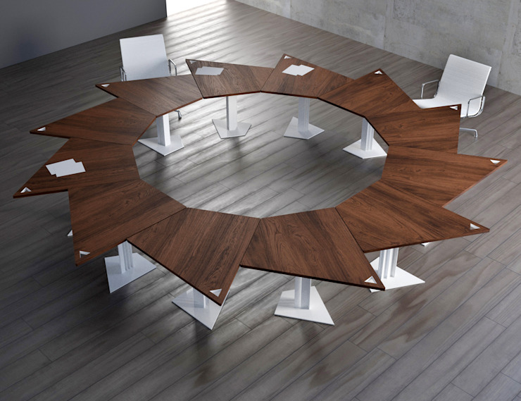 TRAP table consists of 12 units KAMBIAM (NeuroDesign Furniture for People) Sala de jantarMesas