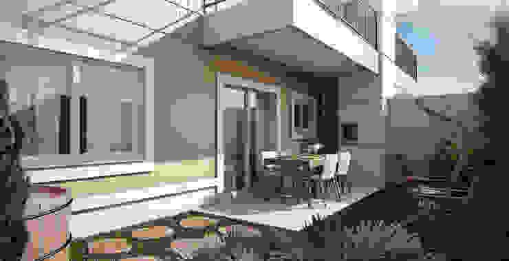 Klasyczny balkon, taras i weranda od Lodo Barana Arquitetura e Interiores Klasyczny