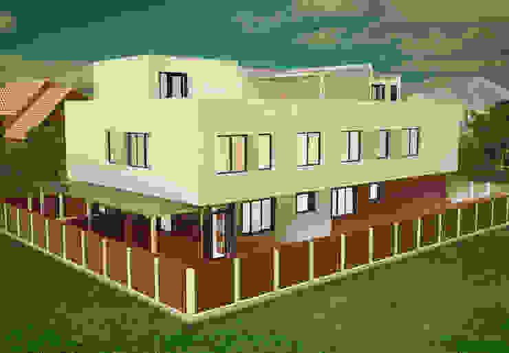 Таунхаус на четыре семьи Дома в стиле минимализм от LGorshkaleva Минимализм