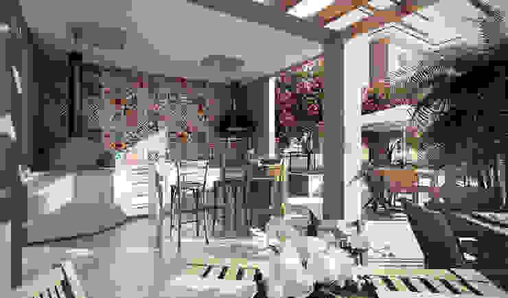 Condomínio São Roque Varandas, alpendres e terraços modernos por Lodo Barana Arquitetura e Interiores Moderno