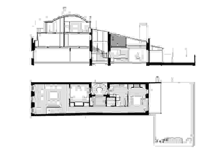 plan & section 05 por ARTE e TECTóNiCA, arquitectura e desenho Lda Eclético