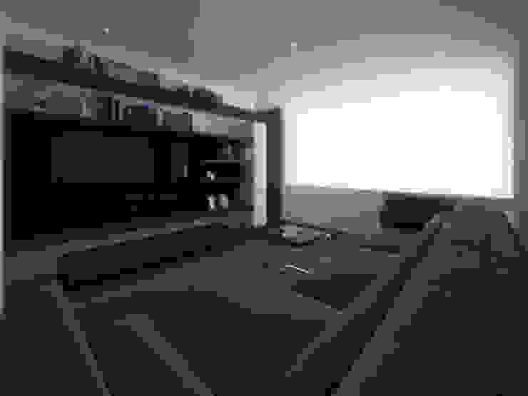 Sala TV Salas multimedia minimalistas de RTstudio Minimalista