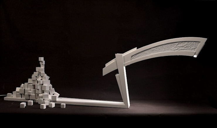 Bureaulamp (XV): modern  door atelier De Zondagse Kamer, Modern