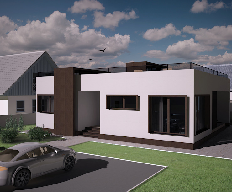 Minimalistische huizen van LGorshkaleva Minimalistisch