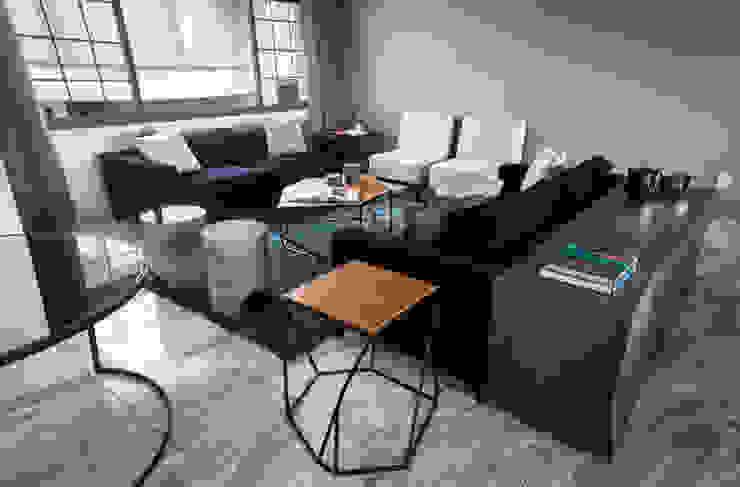 Casa C-CH Salones modernos de Concepto Taller de Arquitectura Moderno