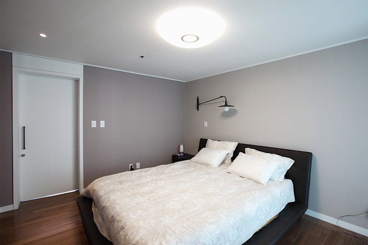 일산 강선마을 벽산아파트 58평형: MID 먹줄의  침실,모던