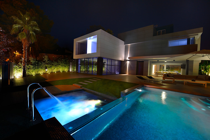 Zona de Spa y piscina Casas de estilo moderno de Duart-Vila Arquitectes S.L.P. Moderno