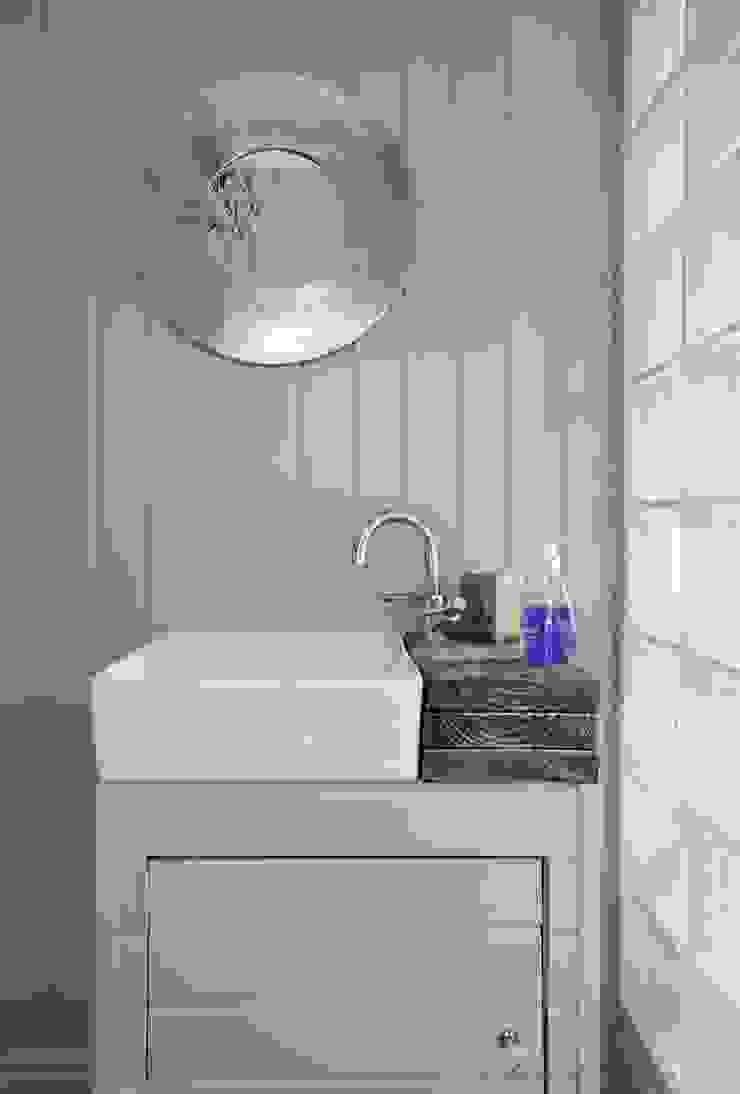 Coastal Townhouse Jude Burrows Interior Design BathroomSinks