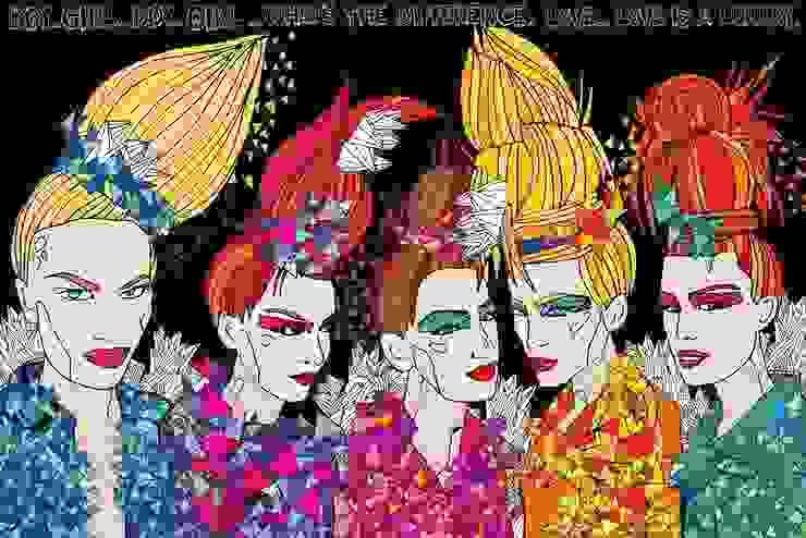 Obraz na płótnie Girls od 4rooms.com.pl Nowoczesny