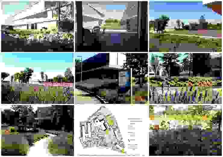 CAMPUS BBVA Edificios de oficinas de estilo mediterráneo de Liquidambar.es Mediterráneo