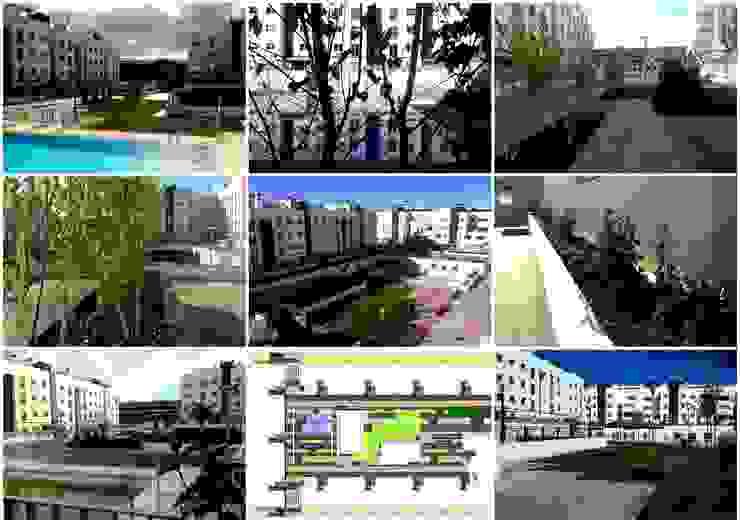 Residencial Europa, zonas comunes Jardines de estilo clásico de Liquidambar.es Clásico