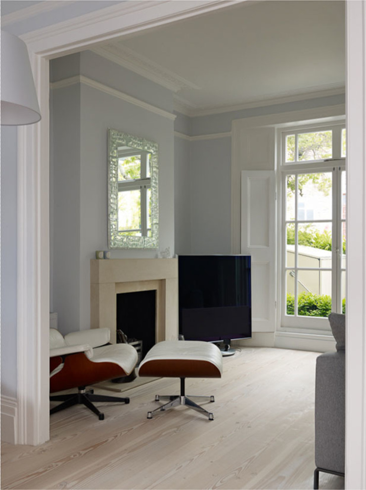 Living Room Salas de estilo escandinavo de Gullaksen Architects Escandinavo