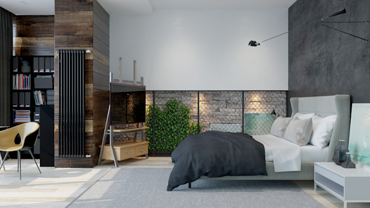 Industrial style bedroom by Pavel Alekseev Industrial