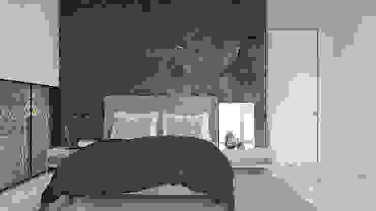 мягкий брутализм Спальня в стиле лофт от Pavel Alekseev Лофт