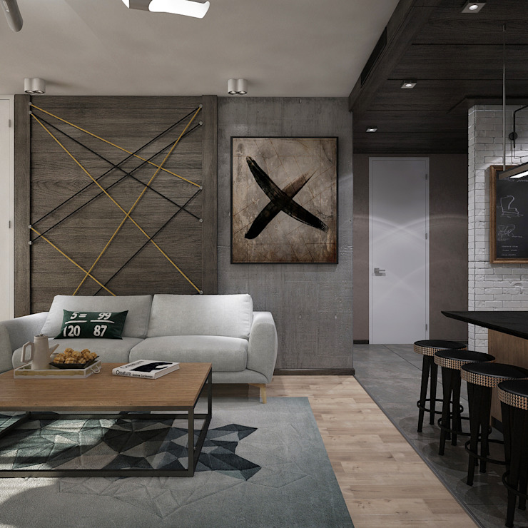 уютный лофт Гостиная в стиле лофт от Pavel Alekseev Лофт