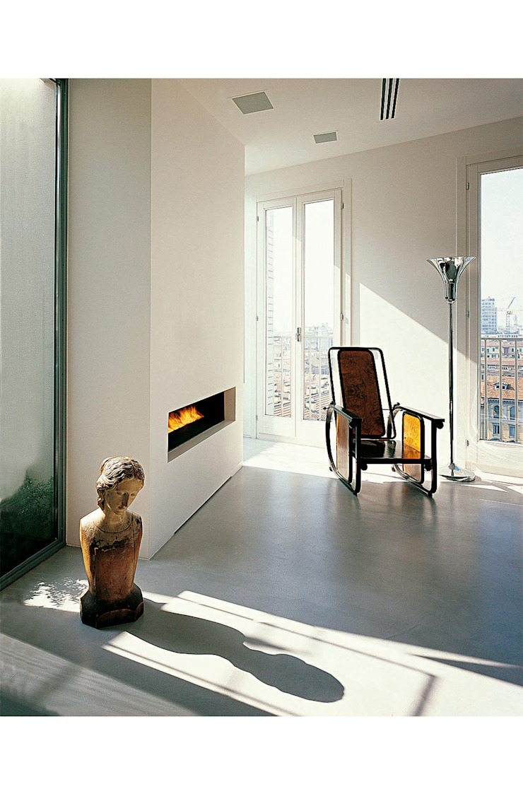 Fireplace in the living room Modern Living Room by 8&A Architetti Modern
