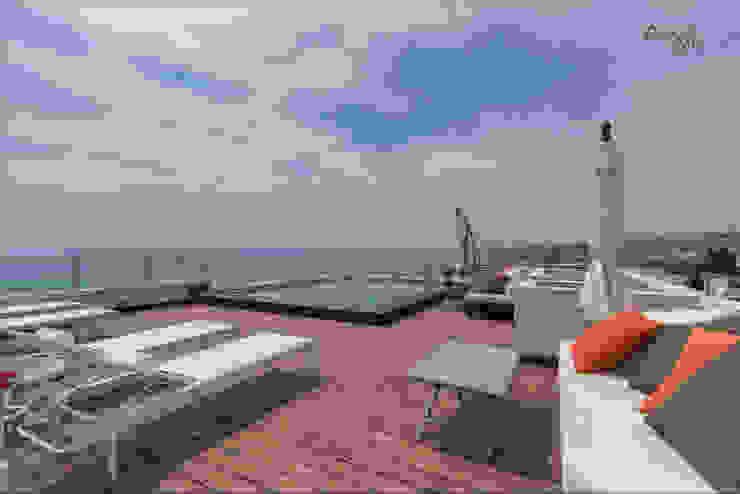 Tropical style balcony, veranda & terrace by Per Hansen Tropical