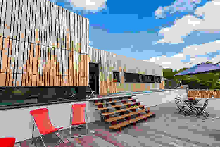 Varandas, alpendres e terraços minimalistas por Hugues TOURNIER Architecte Minimalista