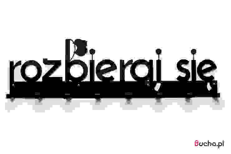 ROZBIERAJ SIĘ Wieszak do przedpokoju metalowy XXXL od Bucha Nowoczesny