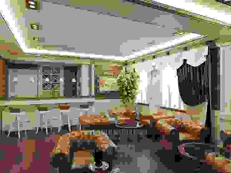 Вид на мини-бар в лаунж-зоне отеля от Студия дизайна интерьера Руслана и Марии Грин Классический