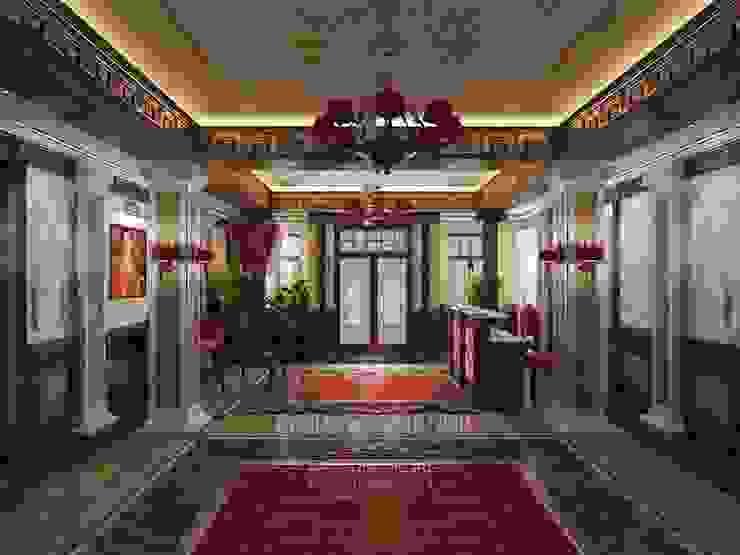 Фото интерьера зоны ресепшн мини-отеля «Рыбинский» от Студия дизайна интерьера Руслана и Марии Грин Классический