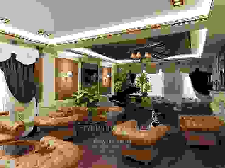 Интерьер зоны лаунж в гостинице от Студия дизайна интерьера Руслана и Марии Грин Классический