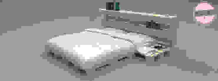 Exclusives Bett - Loft Design - Palette: industriell  von homify,Industrial