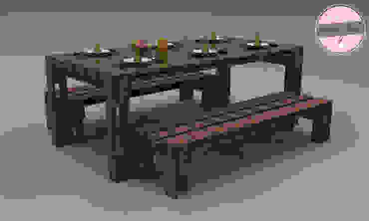 Exclusiver Esstisch - Loft Design - Palette: industriell  von homify,Industrial