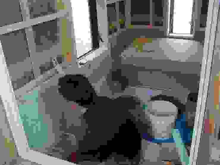 十和田石を張る 和風の お風呂 の 中村茂史一級建築士事務所 和風