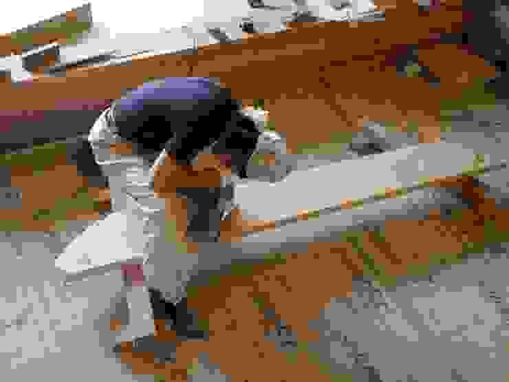 階段の施工 和風デザインの リビング の 中村茂史一級建築士事務所 和風