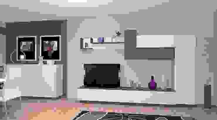 Proyecto de Salón comedor Salones de estilo moderno de ALBERT MUEBLES S.L. Moderno