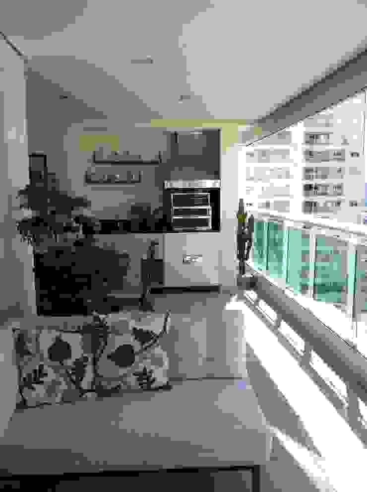 Apartamento Condomínio Central Park – Mooca Varandas, alpendres e terraços modernos por Projetual Arquitetura Moderno