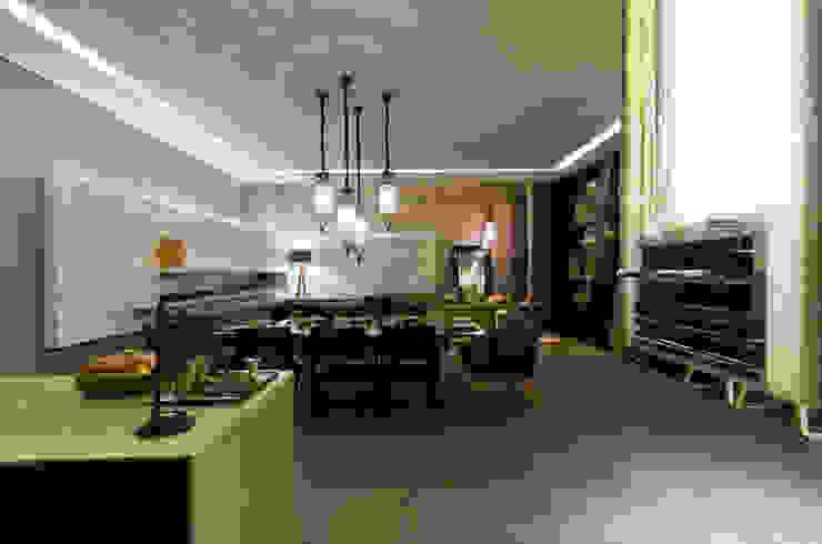 Espaço Churrasqueira para Casa Cor Mato Grosso Salas de jantar modernas por RABAIOLI I FREITAS Moderno